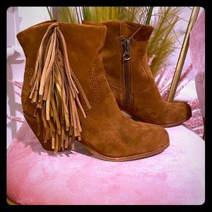 Sam Edelman brown/gold ankle boots